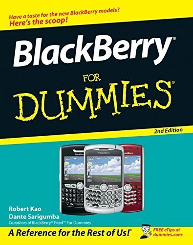 BlackBerry For Dummies (For Dummies (Computers)) 2nd edition by Kao, Robert, Sarigumba, Dante (2007) Taschenbuch