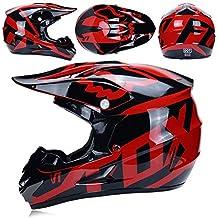 Yhongyang Adulto Motocross Gafas De Casco Protector Máscara Guantes Fox  Moto Racing Hombres Y Mujeres Casco c581edcf6cc