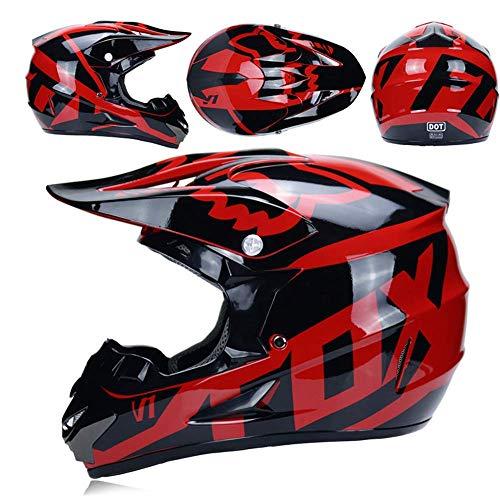Yhongyang Adulto Motocross Gafas De Casco Protector Máscara Guantes Fox Moto Racing...