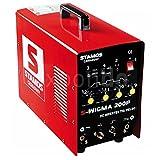 Stamos Germany - S-WIGMA 200P - Saldatrice TIG a CC - e MMA - funzione Puls - 230 V - max. 200 A - ED 60 % - HF -13,0 kg