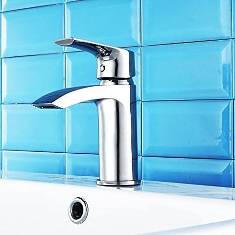 kangya en laiton de salle de bain lavabo robinet mitigeur cascade baignoire robinet de douche, B40