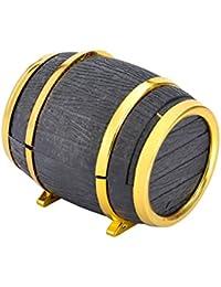 HooAMI Beer Barrel Design Ring Earring Jewellery Display Storage Box Case Xmas Wedding Velvet Gift Boxes