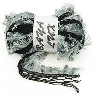 Laine à volant mignon baya lux echarpe - Noir Gris Bleuté