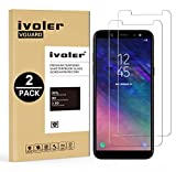 [Lot de 2] Verre Trempé Samsung Galaxy A6 2018 [Garantie à Vie], iVoler Film Protection en Verre trempé écran Protecteur - ANTI RAYURES - SANS BULLES D'AIR -Ultra Résistant Dureté 9H Glass Screen Protector pour Samsung Galaxy A6 2018 - Transparent