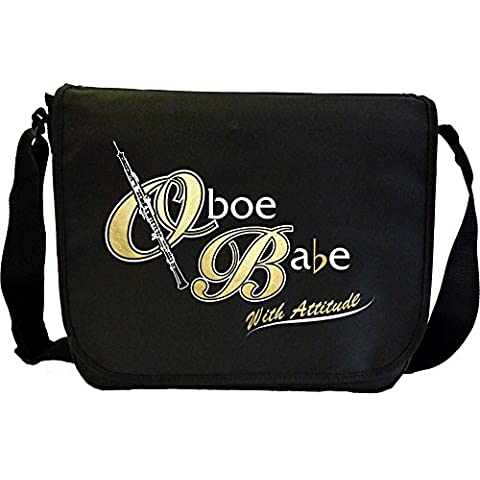 Oboe Babe Attitude - Sheet Music Document Bag Borsa Spartiti