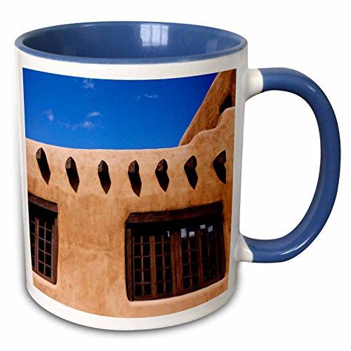 3dRose Santa Fe, New Mexico, usa-us32jmr1046-julien McRoberts-Two Ton Blau Becher, Keramik, Blau/Weiß, 10,16x 7,62x 9,52cm