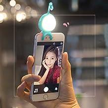 Bluetooth luz LED @ almondcy 2en 1inalámbrico Bluetooth mando a distancia LED selfie luz complementaria iluminación noche selfie Mejora para iphone, teléfono Android y tablets