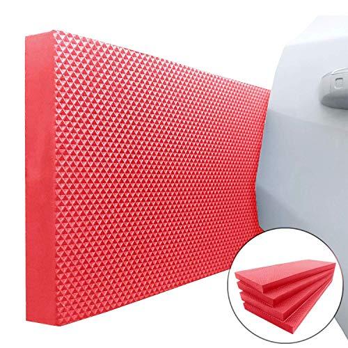 Garage Smith par Ampulla Protecteurs de Mur de Garage et Porte de Voiture, Conçus en Allemagne (Lot de 4 rouge)