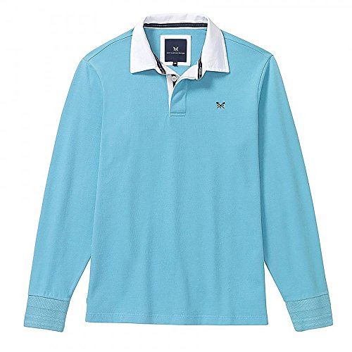 Crew Clothing Herren Poloshirt Crew Rugby Blue Topaz