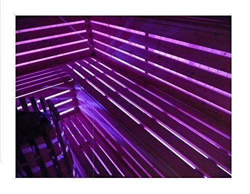 LED Saunabeleuchtung, LED Saunaleuchte, LED Saunalicht, 20 Farben, 6 Farbwechsel-Programme, 5m