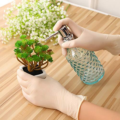HAIMEI-WU 100pcs / Maschinist Handschuhe Nitril-Handschuhe Haushalts-Reinigungs Waschen Weiß Labor Nail Art Anti-Statik-Handschuhe Handschuhe (Farbe : White, Größe : M)