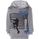 BEZLIT Jungen Hoodie Kapuze Pullover Pulli Motivdruck 21610, Farbe:Grau, Größe:128