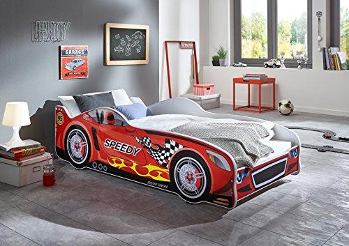Relita BK1475134 Bett, Autobett Holzwerkstoff, rot, 85 x 170 x 50 cm