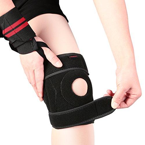 Preisvergleich Produktbild Youngdo Sport Knieschoner,  atmungsaktiver und elastische Kniebandage mehr Sicherheit und Komfort beim Laufen und Joggen,  verstellbare Knieschützer wirkt schmerzlindernd bei Gelenkkrankheiten wie Arthrose,  geeignet für Kinder,  Damen und Herren