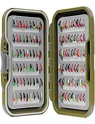 Vert étanche Fly Box Inc mixtes assorties époxy Buzzers Pêche à la Truite mouches–Taille de 8, 10, 12, 14, 16ou 18, Lot de 10, 25, 50, 100