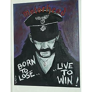 Lemmy, Motorhead 20x 16in in Leinwand Malerei,, Original Art