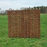 Sichtschutzzaun - Weidenzaun / Flechtzaun 'Stick' als Sichtschutz und Windschutz 1 Stück, 180 x 150 cm