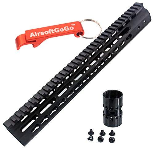 """CNC Aluminum 13.5"""" Key Mod Rail Handguard pour M4 M16 SR16 SR25 Marui G&P CA Airsoft AEG [pour Airsoft uniquement]"""