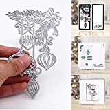 Bluelans® Metal Cutting Dies Embossing Stencil Template for DIY Scrapbook Album Paper Card Craft Decoration (Xmas Ball Cutting Dies)
