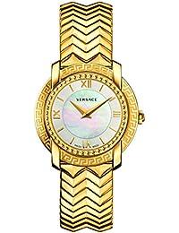 Versace Women's 'DV-25' Swiss Quartz Stainless Steel Casual Watch, Color:Gold-Toned (Model: VAM040016)