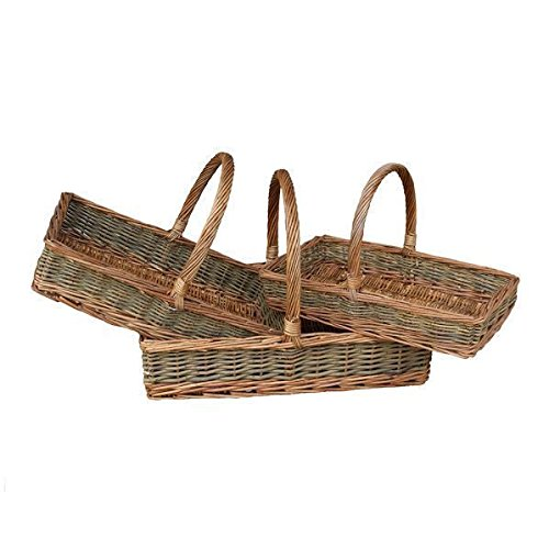Plano Rectangular País Unpeeled Wicker Jardín Trug Basket