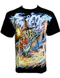 Rock Chang T-Shirt * Wizard * Magicien * Noir F-HD27