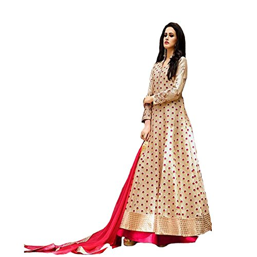 lehenga choli (womens designer cream embroidery lehenga choli)