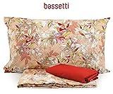 Bassetti Completo Copripiumino Matrimoniale Mania Art. Bright, con sotto angolare Rosso