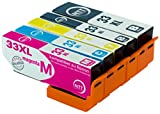 N.T.T.® 10x kompatibel zu Epson T3351-T3364 Tintenpatronen kompatibel mit Epson Expression Premium XP-645 XP-830 XP-900 XP-530 XP-540 XP-630 XP-635 XP-640 (2 Schwarz,2 Foto Schwarz,2 Cyan,2 Magenta,2 Gelb) 33XL