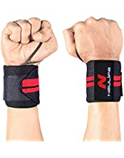 Neulife Weight Lifting Wrist Wrap Pair Thum SupportWrist Su