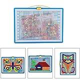 296pcs Pilz Nagel Jigsaw Peg Puzzle Spiel Pilz Nägel Puzzle pädagogischen Spielzeug für Kinder Kind zufällige Farbe