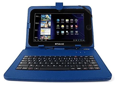 Polaroid 10.1 - DURAGADGET Etui bleu et clavier intégré AZERTY