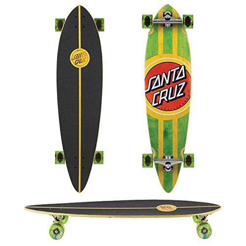 Santa Cruz Longboard Classic Dot Pintail, green, 9.6 x 39.0 Zoll, SANLOBCLDOPI