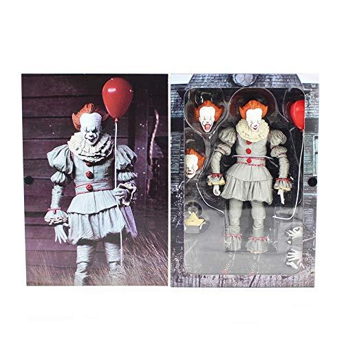 NECA Stephen Kings Es Pennywise Joker Clown Horrorfilm Figur PVC Action Figure Modell Sammlung Spielzeug Halloween Day Geschenk