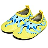 JIASUQI Baby und Kinder Athletic Sneakers Barfu? Wasser Schuhe f¨¹r Beach Swim Pool, Gelb Octopus 18-24 Monate