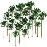 Hestya 30 Piezas de Modelo Árbol de Palmera de Cocos Árboles de Modelo de Paisaje Mezclados