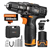 Best Cordless Drills - Cordless Drill, Tacklife PCD03B 2pcs 12V Lithium-Ion Batteries Review