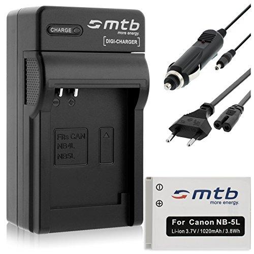 Batteria + Caricabatteria (Auto/Corrente) per Canon NB-5L / Ixus 90 IS, 800 IS.Powershot SD990 IS, SX230 HS. - vedi list