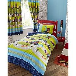 Kids Club Jungen Bettwäsche Bagger (Einzelbett) (Blau)