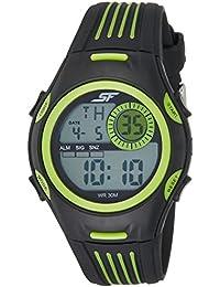 Sonata Fibre (SF) Digital Grey Dial Men's Watch-77072PP01