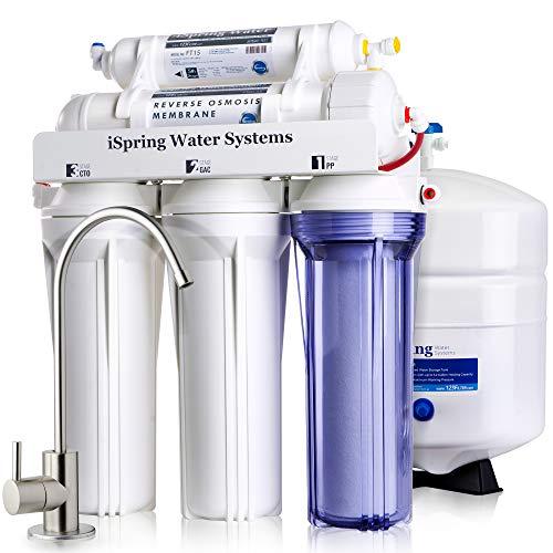 Sistema filtrado agua ósmosis inversa iSpring 75GPD