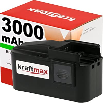 Kraftmax Hochleistungs-Akku für AEG BEST12X SUPER - 12V / 3000mAh / Ni-MH - P...