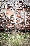 Ribelli® Gartenstuhl 'Brøndby' - Teak Holz Stapelstuhl in Braun mit Edelstahl - Stapelsessel mit Armlehne für Garten Balkon & Terrasse - Teakholz Stuhl massiv