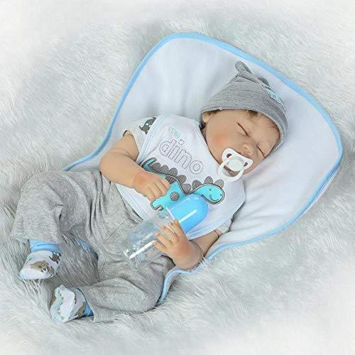 lquide Voll Vinyl Silikon Körper Real Touch Baby Lebensechte Reborn Puppen Realistische Neugeborenen Puppe Schlaf Junge Dummy Kinder Spielzeug Geburtstagsgeschenk 22 Zoll (Baby Silikon-körper Puppen Reborn)
