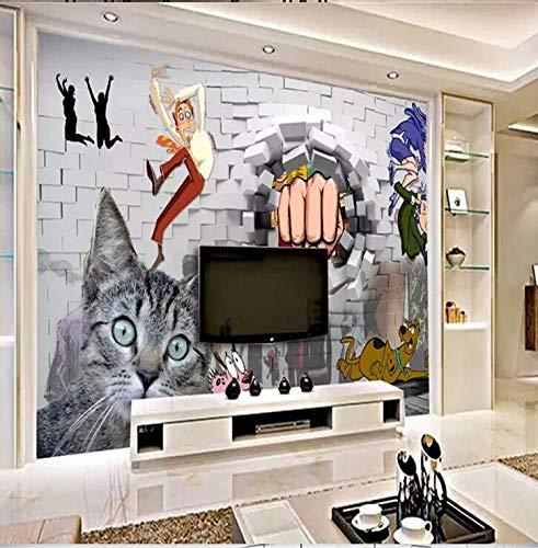 Wandmalerei Durch Wand 3D Stereoskopische Angst Lebensmittel und Getränke Wandmalerei Hintergrund Wandtuch, 430 × 280 cm