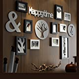 Fotorahmen Kollage Groß Foto-Wand-hölzernes Foto-Wand-europäisches Wohnzimmer-Restaurant-Foto-Rahmen-Wand Einfache kreative kreative Foto-Rahmen-Wand Kreative Bilderrahmen Wand ( Color : A )