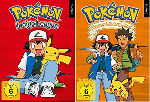 Pokémon Staffel 1+2 / DVD Box Set / Pokemon / Indigo Liga + Adventures in the Orange Islands / 13 DVDs