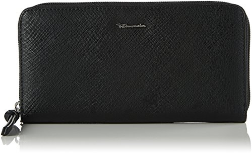 Tamaris Damen Debra Big Zip Around Wallet Geldbörse, Schwarz (Black), 2x10x19.5 cm (Around Zip Logo Wallet)