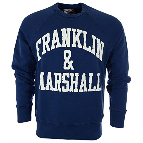 Franklin-Marshall-Black-Arch-Logo-Sweatshirt-Mens