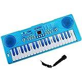 Piano para niños, Shayson 37 Teclado electrónico multi-función Piano Piano Piano con micrófono Juguete educativo para niños Niños Niños (Azul)